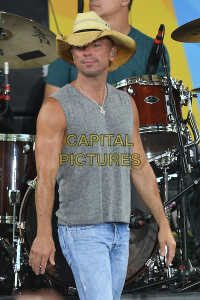 NEW YORK, NY - JULY 8: Kenny Chesney performs on ABC's 'Good Morning America' at SummerStage at Rumsey Playfield, Central Park on July 8, 2016 in New York City. <br /> CAP/MPI/PAL<br /> &copy;PAL/MPI/Capital Pictures