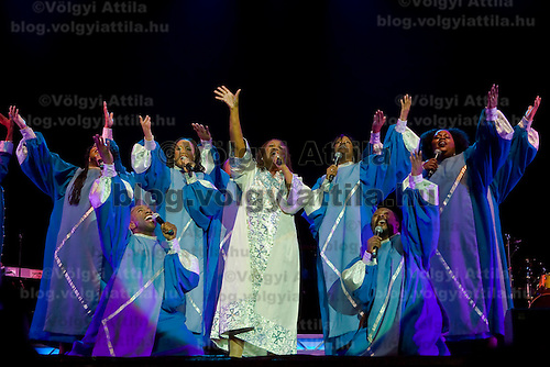 Members of the Harlem Gospel Singers choir perform during a christmas concert in Budapest, Hungary. Thursday, 07. December 2006. ATTILA VOLGYI