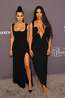NEW YORK, NY - FEBRUARY 6: Kourtney Kardashian and Kim Kardashian West arriving at the 21st annual amfAR Gala New York benefit for AIDS research during New York Fashion Week at Cipriani Wall Street in New York City on February 6, 2019. <br /> CAP/MPI/JP<br /> &copy;JP/MPI/Capital Pictures
