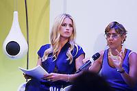Michelle Hunziker and Giulia Buongiorno attend a press conference on the movie 'Ancora un'Altra Storia' during the 72nd Venice Film Festival at the Palazzo Del Cinema in Venice, Italy, September 7, 2015.<br /> UPDATE IMAGES PRESS/Stephen Richie