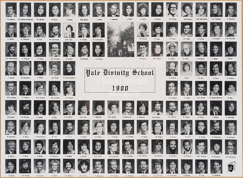 1980 Yale Divinity School Senior Portrait Class Group Photograph