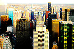 View from Rockefeller Center, northern part of Manhattan, NEw York City.