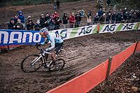 race leader Wout Van Aert (BEL/Crelan-Charles)<br /> <br /> Elite Men's Race<br /> UCI CX Worlds 2018<br /> Valkenburg - The Netherlands
