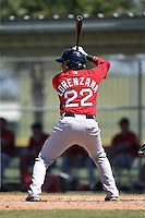 Boston Red Sox Hector Lorenzana (22) during a minor league spring training game against the Baltimore Orioles on March 20, 2015 at Buck O'Neil Complex in Sarasota, Florida.  (Mike Janes/Four Seam Images)