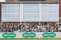MCC members sit under the sight screen during Middlesex CCC vs Essex CCC, Specsavers County Championship Division 1 Cricket at Lord's Cricket Ground on 21st April 2017
