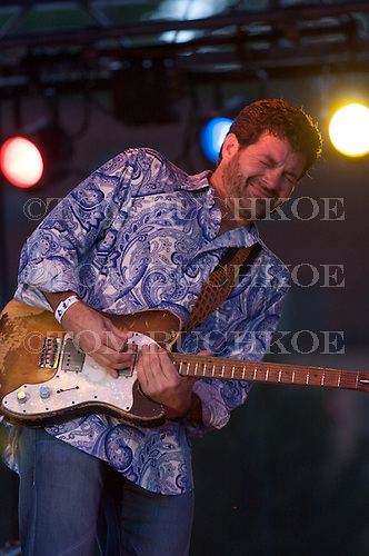 Tab Benoit plays the blues at the 2008 Marquette Area Blues Fest in Marquette Michigan.