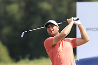 Lucas Bjeregaard (DEN) tees off the 17th tee during Saturday's Round 3 of the Porsche European Open 2018 held at Green Eagle Golf Courses, Hamburg Germany. 28th July 2018.<br /> Picture: Eoin Clarke | Golffile<br /> <br /> <br /> All photos usage must carry mandatory copyright credit (&copy; Golffile | Eoin Clarke)