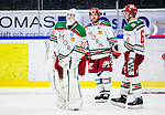 S&ouml;dert&auml;lje 2013-12-12 Ishockey Hockeyallsvenskan S&ouml;dert&auml;lje SK - Mora IK :  <br /> Mora m&aring;lvakt 35 Mantas Armalis , Mora 2 Kevin Mitchell och Mora 6 Mikael Vikstrand deppar efter matchen<br /> (Foto: Kenta J&ouml;nsson) Nyckelord:  depp besviken besvikelse sorg ledsen deppig nedst&auml;md uppgiven sad disappointment disappointed dejected