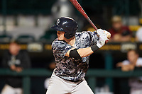 Tampa Yankees third baseman Kyle Holder (12) at bat during the second game of a doubleheader against the Bradenton Marauders on June 14, 2017 at LECOM Park in Bradenton, Florida.  Tampa defeated Bradenton 5-1.  (Mike Janes/Four Seam Images)