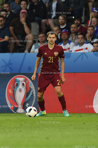 Georgi Schennikov (Russia) ; <br /> June 15, 2016 - Football : Uefa Euro France 2016, Group B, Russia 1-2 Slovakia at Stade Pierre Mauroy, Lille Metropole, France. (Photo by aicfoto/AFLO)