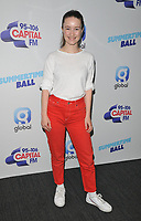 Sigrid (Sigrid Solbakk Raabe) at the Capital FM Summertime Ball 2019, Wembley Stadium, Wembley, London, England, UK, on Saturday 08th June 2019.<br /> CAP/CAN<br /> ©CAN/Capital Pictures
