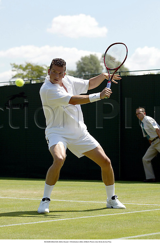 RICHARD KRAJICEK (NED), Round 1 Wimbledon 2002, 020624. Photo: Glyn Kirk/Action Plus...tennis.the championships.man
