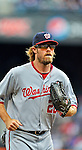 11 April 2012: Washington Nationals outfielder Jayson Werth in action against the New York Mets at Citi Field in Flushing, New York. The Nationals shut out the Mets 4-0 to take the rubber match of their 3-game series. Mandatory Credit: Ed Wolfstein Photo