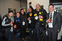 Wellington Rugby staff in the changing rooms after the Super Rugby final match between the Hurricanes and Lions at Westpac Stadium, Wellington, New Zealand on Saturday, 6 August 2016. Photo: Dave Lintott / lintottphoto.co.nz