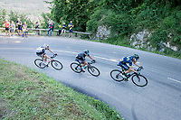 race leaders with eventual stage winner Peter Kennaugh (GBR/SKY) on board<br /> <br /> stage 7: Aoste &gt; Alpe d'Huez (168km)<br /> 69th Crit&eacute;rium du Dauphin&eacute; 2017