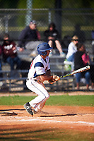 FDU-Florham Devils Garrett Ruoff (20) at bat during the second game of a doubleheader against the Farmingdale State Rams on March 15, 2017 at Lake Myrtle Park in Auburndale, Florida.  FDU-Florham defeated Farmingdale 8-4.  (Mike Janes/Four Seam Images)