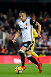 Rodrigo Moreno of Valencia CF  in action during the La Liga 2017-18 match between Valencia CF and Villarreal CF at Estadio de Mestalla on 23 December 2017 in Valencia, Spain. Photo by Maria Jose Segovia Carmona / Power Sport Images