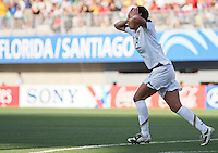 Santiago, Chile: American's player Sydney Leroux celebrate a goal against Korea DRP's  team during the finals match, of the Fifa U-20 Womens World Cup the at Florida´s Municipal Stadium, on December 07 th, 2008. By Grosnia / ISIphotos.com.