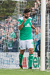 08.09.2018, pk-Sportpark, Cloppenburg, GER, FSP, SV Meppen vs Werder Bremen <br /> <br /> DFL REGULATIONS PROHIBIT ANY USE OF PHOTOGRAPHS AS IMAGE SEQUENCES AND/OR QUASI-VIDEO.<br /> <br /> im Bild / picture shows<br /> Claudio Pizarro (Werder Bremen #04) bejubelt seinen Treffer zum 2:4, <br /> <br /> Foto &copy; nordphoto / Ewert
