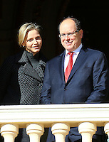 Prince Albert II and Princess Charlene of Monaco at Sainte Devote Procession - Monaco