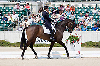 AUS-Kadi Eykamp (DOUBLE RIVERS DILLON) 2012 USA-Rolex Kentucky 3 Day Event: INTERIM RESULTS-DRESSAGE: =31ST