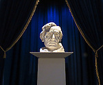 Bust of Abraham Lincoln on display at the Abraham Lincoln Presidential Library and Museum in Springfield, Il. The piece was created by Gutzon Borglum (DePaul University/Jamie Moncrief)