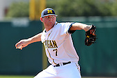 Ben Ballantine #7 of the Michigan Wolverines during the Big East-Big Ten Challenge vs. the St. John's Red Storm at Al Lang Field in St. Petersburg, Florida;  February 19, 2011.  St. John's defeated Michigan 13-6.  Photo By Mike Janes/Four Seam Images