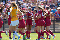 Stanford, CA - September 4, 2016:  Michelle Xiao Team during the Stanford vs Marquette Women's soccer match in Stanford, California.  The Cardinal defeated the Golden Eagles 3-0.