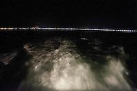 Riviera adriatica, Bellaria, pesca nel mare adriatico, con pescherecci e reti, costa adriatica