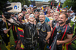 "© Joel Goodman - 07973 332324 . 23/08/2014 .  Manchester , UK . Rubber selfie . The parade through Manchester City Centre . Manchester Pride "" Big Weekend "" in Manchester "" today ( 23rd August 2014 ) . Photo credit : Joel Goodman"