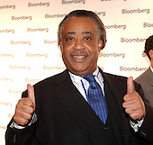 "Reverend Al Sharpton gives ""two thumbs up"" as he arrives at the Bloomberg party following the 2005 White House Correspondents Dinner in Washington, D.C. on April 30, 2005..Credit: Ron Sachs / CNP.(RESTRICTION: No New York Metro or other Newspapers within a 75 mile radius of New York City)"