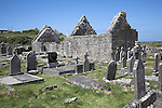 Ruined monastic church and graveyard, Inishmore, Aran Islands, Ireland
