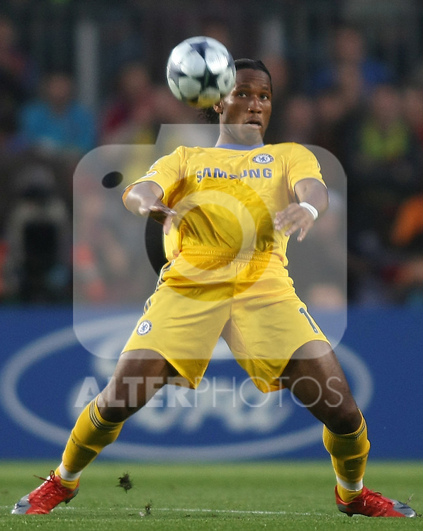 Chelsea's Didier Drogba during the UEFA Champions League match.April 28 2009. (ALTERPHOTOS/Acero).