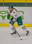 13 February 2015: University of Vermont Catamount Forward Brittany Zuback, a Senior from Thunder Bay, Ontario, in second period action against the University of New Hampshire Wildcats at Gutterson Fieldhouse in Burlington, Vermont. The Lady Catamounts fell to the visiting Wildcats 4-2 in the first game of their weekend Hockey East series. Mandatory Credit: Ed Wolfstein Photo *** RAW (NEF) Image File Available ***