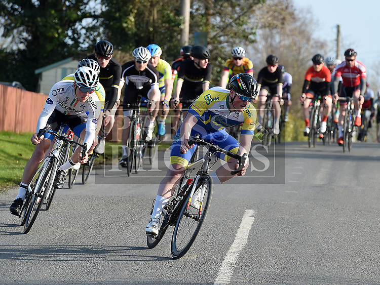 Bem McCourt Lenehan riding for Drogheda Wheelers in the 10th Anniversary edition of the Peter Bidwell Memorial cycle race at Donore. Photo:Colin Bell/pressphotos.ie
