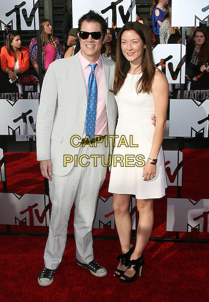 13 April 2014 - Los Angeles, California - Johnny Knoxville, Naomi Nelson. 2014 MTV Movie Awards held at Nokia Theatre L.A. Live. <br /> CAP/ADM<br /> &copy;AdMedia/Capital Pictures