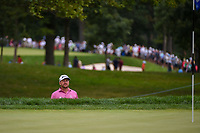 Graeme McDowell (NIR) peaks from the trap on 5 during Rd3 of the 2019 BMW Championship, Medinah Golf Club, Chicago, Illinois, USA. 8/17/2019.<br /> Picture Ken Murray / Golffile.ie<br /> <br /> All photo usage must carry mandatory copyright credit (© Golffile   Ken Murray)