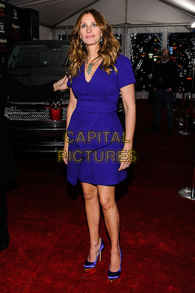 12 December 2013 - New York, New York- Julia Roberts. New York Premiere of &quot;August: Osage County&quot; at The Ziegfeld Theater. <br /> CAP/ADM/MSA<br /> &copy;Mario Santoro/AdMedia/Capital Pictures