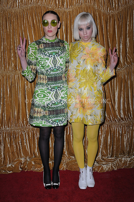 WWW.ACEPIXS.COM<br /> February 16, 2015 New York City<br /> <br /> Mia Moretti and Caitlin Moe at the alice + olivia by Stacey Bendet fashion presentation on February 16, 2015 in New York City. <br /> <br /> By Line: Kristin Callahan/ACE Pictures<br /> ACE Pictures, Inc.<br /> tel: 646 769 0430<br /> Email: info@acepixs.com<br /> www.acepixs.com