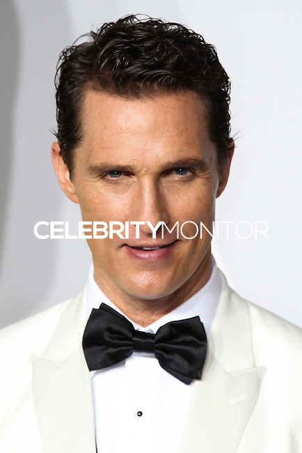 HOLLYWOOD, LOS ANGELES, CA, USA - MARCH 02: Matthew McConaughey at the 86th Annual Academy Awards - Press Room held at Dolby Theatre on March 2, 2014 in Hollywood, Los Angeles, California, United States. (Photo by Xavier Collin/Celebrity Monitor)