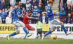 22.09.2019 St Johnstone v Rangers: Jermain Defoe scores goal no 3 for Rangers