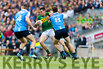 Jack Barry Kerry in action against Brian Fenton Dublin at the National League Final in Croke Park on Sunday.