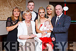 McCarthy of Manor celebrate the christening of baby Fionn McCarthy in Benners Hotel on Saturday last.<br /> L-r, Eileen O&rsquo;Shea (Grandmother), Eileen O&rsquo;Shea (Great-Grandmother), Jim McCarthy (Godfather), Laura McCarthy (Mom), baby Fionn, Hannah Lynchehan (Godmother) and Eymard McCarthy (Grandfather).