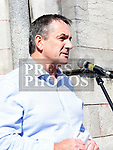 Richie Culhane speaking at the rally against voilence in the town. Photo:Colin Bell/pressphotos.ie