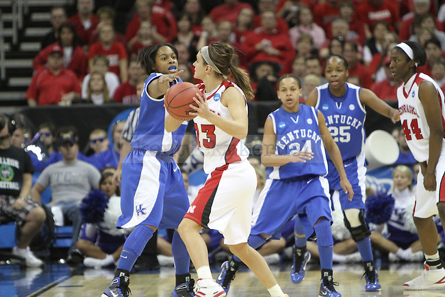 The UK Hoops played Nebraska in the NCAA Women's Basketball Sweet 16 Tournament on Sunday, March 28, 2010 at the Sprint Center in Kansas City, Mo. Photo by Brandon Goodwin | Staff