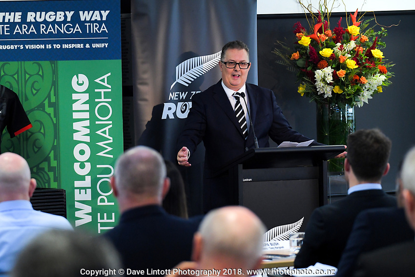 New NZ Rugby Board member Shaun Nixon. The 2019 New Zealand Rugby Annual General Meeting at the New Zealand Rugby House in Wellington, New Zealand on Wednesday, 17 April 2019. Photo: Dave Lintott / lintottphoto.co.nz