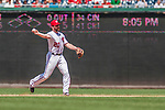 16 August 2017: Washington Nationals second baseman Daniel Murphy makes a play to first during a game against the Los Angeles Angels at Nationals Park in Washington, DC. The Angels defeated the Nationals 3-2 to split their 2-game series. Mandatory Credit: Ed Wolfstein Photo *** RAW (NEF) Image File Available ***