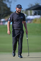 Tyrrell Hatton (ENG) drains his birdie putt on 2 during round 3 of the Arnold Palmer Invitational at Bay Hill Golf Club, Bay Hill, Florida. 3/9/2019.<br /> Picture: Golffile | Ken Murray<br /> <br /> <br /> All photo usage must carry mandatory copyright credit (© Golffile | Ken Murray)