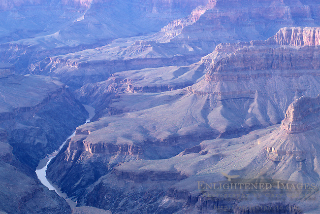 Colorado River as seen from the South rim of the  Grand Canyon, Grand Canyon National Park, Arizona