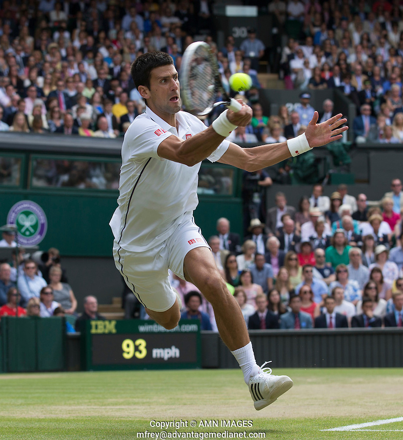 NOVAK DJOKOVIC (SRB)<br /> The Championships Wimbledon 2014 - The All England Lawn Tennis Club -  London - UK -  ATP - ITF - WTA-2014  - Grand Slam - Great Britain -  6th July 2014. <br /> <br /> © AMN IMAGES